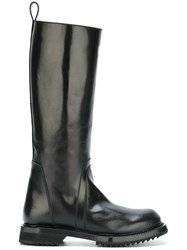 Rick Owens Knee High Boots Black
