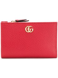 Gucci Gg Marmont Zipped Wallet Red