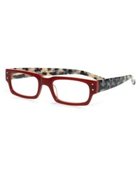 Eyebobs Peckerhead Rectangular Two Tone Readers Red Tortoise Tortoise Red