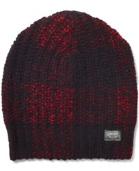 Denim And Supply Ralph Lauren Rib Knit Wool Hat Black Red