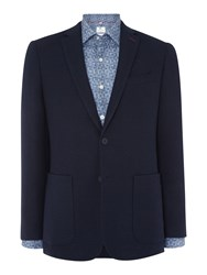 Richard James Navy Double Faced Check Jacket
