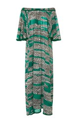 Missoni Mare Off The Shoulder A Line Dress Print