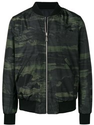 Paul Smith Ps Camouflage Print Bomber Jacket Green