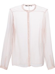 Haider Ackermann Sheer Button Up Shirt Nude And Neutrals
