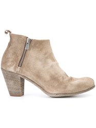 Officine Creative Plaisir Ankle Boots Women Buffalo Leather Calf Leather 40 Nude Neutrals