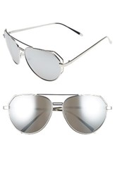 A. J. Morgan Women's A.J. Perfection 62Mm Sunglasses Silver