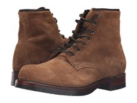 Frye John Addison Lace Up Fatigue Waxed Suede Men's Boots Brown