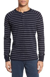 Jack Spade Men's Caine Stripe Henley Dark Navy