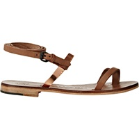 Anna Ankle Wrap Sandals Rose Gold