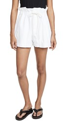 Bassike Canvas Paper Bag Relaxed Shorts White
