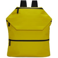 Issey Miyake Yellow Galette Backpack