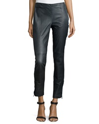 Kaufman Franco Micro Stretch Skinny Fit Leather Pants Slate Melange