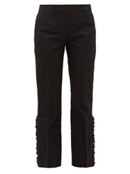 N 21 No. Flounced Cuff Lace Trousers Black
