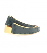 Marni Leather And Metal Bracelet Green