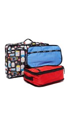 Le Sport Sac Travel Pouch Set Classic Red Combo