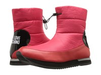 Love Moschino Ankle Snow Boot Red Women's Boots
