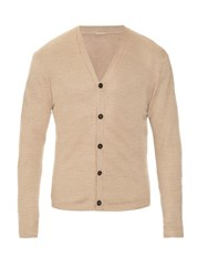 Massimo Alba Long Sleeved Linen Knit Cardigan Beige