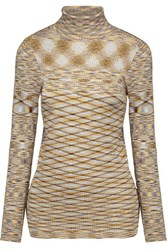 Sandro Ribbed Knit Turtleneck Sweater Multi