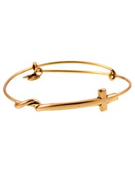Alex And Ani Sideways Cross Bangle Bracelet Gold