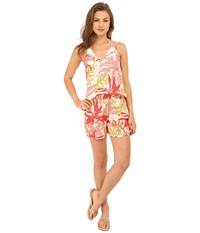 Vince Camuto Crete Flower Romper Cover Up Blush Balm Women's Swimsuits One Piece Multi