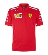 Puma Ferrari Team Polo Shirt Red
