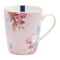 Joules Whitstable Floral Fine China Mug Pink