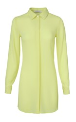 Kalmanovich Collared Shirt Dress Yellow
