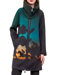 Akris Jenko Turf Print Neoprene Parka Multi Multi Colors