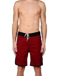 Lightning Bolt Beach Shorts And Pants Maroon