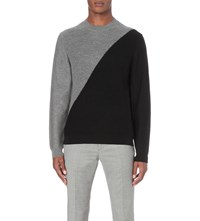 Paul Smith Colour Block Wool Jumper Elephant