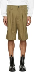 Acne Studios Beige Alex H Twill Shorts