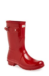 Women's Hunter 'Original Short' Gloss Rain Boot Military Red Gloss