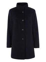 Basler Wool Coat With Cashmere Navy