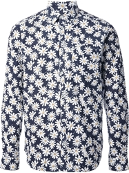 Department 5 Floral Print Shirt Blue