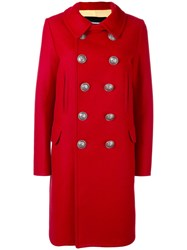 Dsquared2 Double Breasted Coat Women Polyamide Polyester Virgin Wool 38