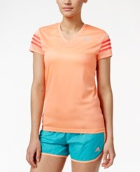 Adidas Cap Sleeve Climalite Top Sunglow