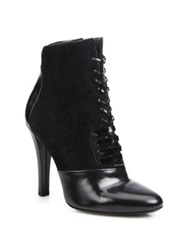 3.1 Phillip Lim Harleth Leather And Suede Lace Up Booties Black