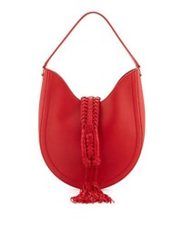 Altuzarra Ghianda Small Leather Hobo Bag Red