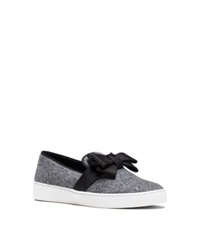 Michael Kors Val Flannel Tuxedo Slip On Sneaker Banker Grey