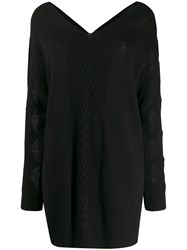 Boutique Moschino Cur Out Sleeve Dress Black