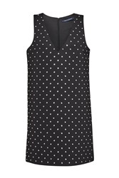 French Connection Diamond Drop Jersey Dress Black