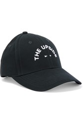 The Upside Embroidered Cotton Canvas Baseball Cap Midnight Blue