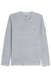 Zadig And Voltaire Pablo Striped Cotton Top Stripes