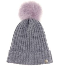 Yves Salomon Meteo Fur Trimmed Wool And Cashmere Hat Purple