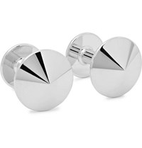 Alice Made This Thomas Rhodium Plated Cufflinks Silver