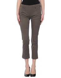 Jeans Les Copains Trousers Casual Trousers Women Dark Brown