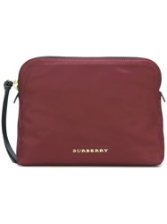 Burberry Zipped Pouch Red