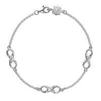 Dower And Hall Entwined Silver Infinity Bracelet N A N A