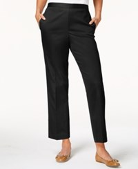 Alfred Dunner Upper East Side Straight Leg Pants Black