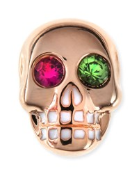 Sydney Evan 14K Rose Gold Gemstone Skull Single Stud Earring